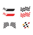 race flag icon simple design race flag logo vector image