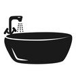 round bath icon simple style vector image vector image
