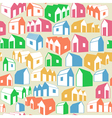 Seamless geometric background with houses vector image vector image