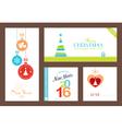 Set Flat Christmas New Years backgrounds vector image