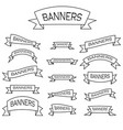 set of 15 ribbons vector image