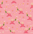 sip and see baby shower seamless pattern vector image