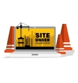 site under construction scene with cranes vector image
