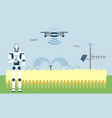 smart farm with artificial intelligence control vector image vector image