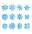snowflakes icons collection vector image