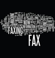the new look fax machine text background word vector image vector image