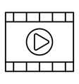 video player thin line icon media player vector image vector image