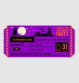 vintage halloween party invitation design vector image vector image