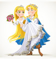 Wedding of Prince Charming and fairytale princess vector image vector image