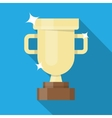 Winner golden cup vector image