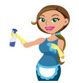 women providing house cleaning service vector image vector image