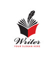 writer icon with book vector image