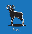 zodiac sign aries ram on an isolated background vector image vector image