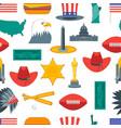 cartoon symbol of america background pattern vector image
