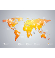3d world map and infographics design template