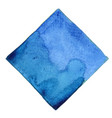 abstract blue watercolor square shape banner vector image vector image
