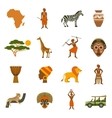 Africa Icons Set vector image vector image