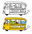 animal bus vector image