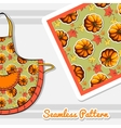 Autumnal Pattern For Apron vector image