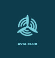 avia club logo vector image vector image