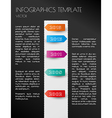 black infographic timeline vector image vector image