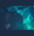 blue dark geometric rumpled triangular low poly vector image vector image