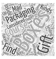 boxes and packaging Word Cloud Concept vector image vector image