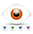 bright modern eyes in 5 vivid colors vector image vector image