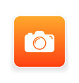 camera icon flat camera sign isolated vector image vector image