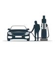 car fuelling transport gas station vector image vector image