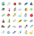 chemistry lab icons set isometric style vector image vector image