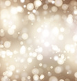 Christmas background with bokeh lights vector image vector image
