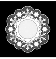 Christmas lace napkin Frame for invitation or vector image