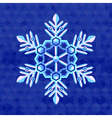 christmas-snowflake-greeting-card-template vector image