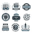 Cinema Label Set vector image vector image
