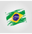 color brazil national flag grunge style eps10 vector image