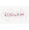colorful confetti and celebrations ribbon isolated vector image vector image