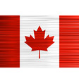 concept canadian flag red white and maple leaf vector image