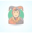 Court jester harlequin fool clown icon vector image vector image