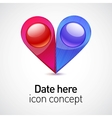 Date icon concept vector image
