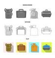 design of suitcase and baggage sign set of vector image