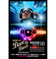 disco music flyer vector image vector image