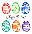 easter watercolor eggs vector image vector image