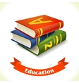Education icon textbook vector image vector image