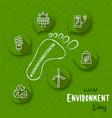 environment day generation restoration icon card vector image vector image