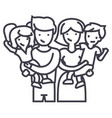 familyhappy parents and children keep on hands vector image vector image