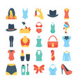 fashion and clothes colored icons 7 vector image vector image