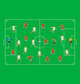 football players on a green field soccer players vector image