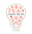 funny light bulbs vector image vector image
