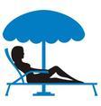girl sunbathing vector image vector image